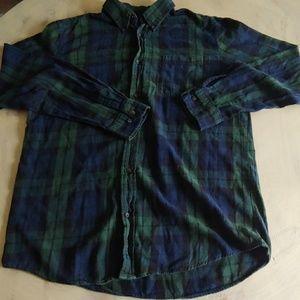 Mens St. John's Bay Blue/Green Flannel Shirt